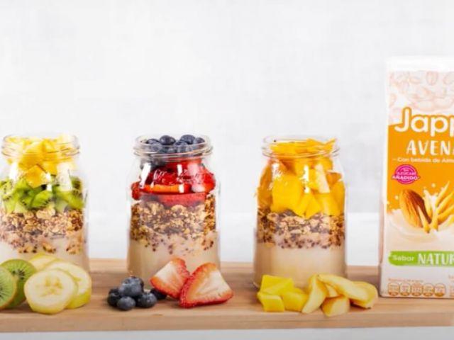 Delicioso parfait de frutas con nuestra Jappi® Avena