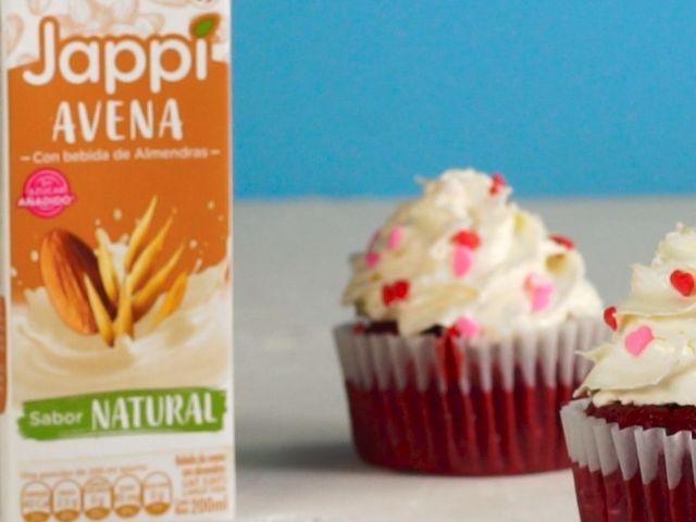 Cómo hacer cupcake de red velvet para san Valentín