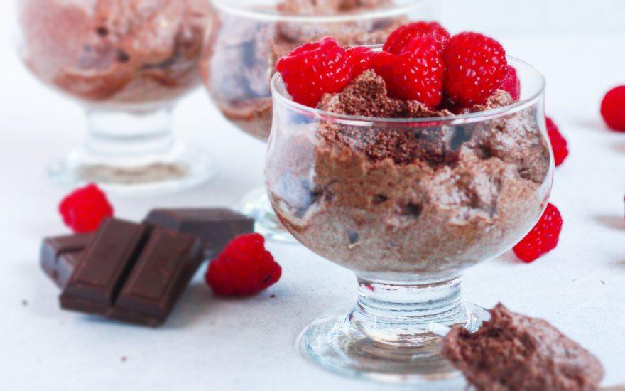 Mousse de chocolate, idea de postres vegetarianos