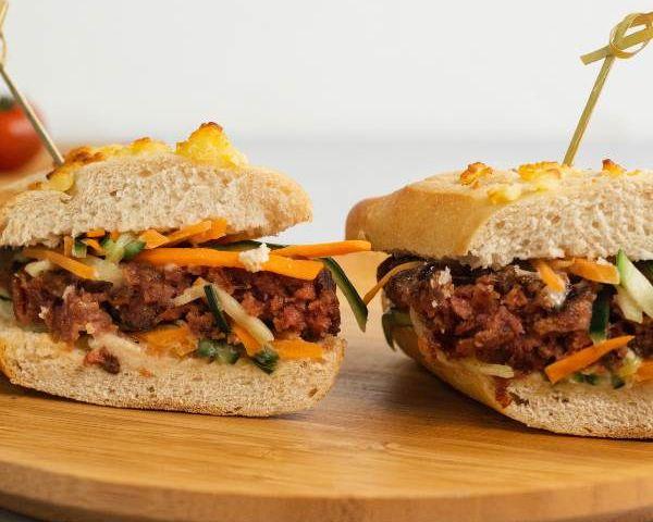 Sandwich oriental con jappi burger